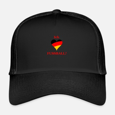 I Love New York i love football gift german - Trucker Cap