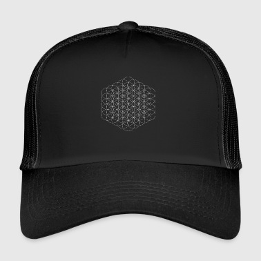 Geometry Circles flower sacred geometry white - Trucker Cap