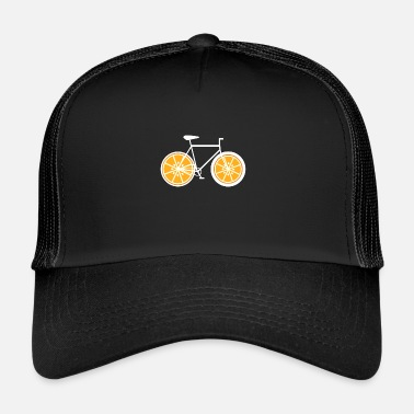 Road Bike Orange bike - bike, bike, road bike, fixie - Trucker Cap