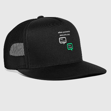 whatsapp conversation between friends - Trucker Cap