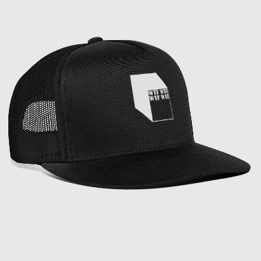 wtf logo abstract cubes - Trucker Cap