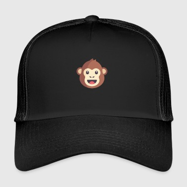 Emoticon de mono marrón - Gorra de camionero