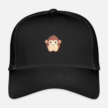 Emoticon schattige aap emoticon - Trucker Cap