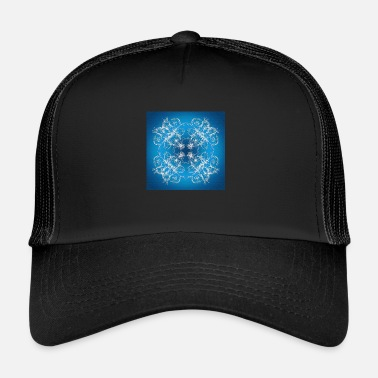 Baroque blue texture in baroque style - Trucker Cap