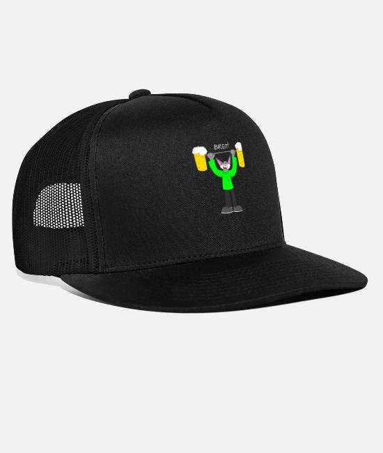 Alcoholic Caps & Hats - Wide! - Trucker Cap black/black