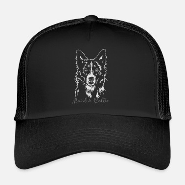 Border BORDER COLLIE Portrait of Wilsign - Trucker Cap