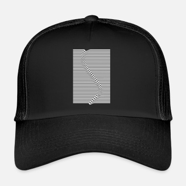 Abstract Abstract lines art surfing in the water - Trucker Cap
