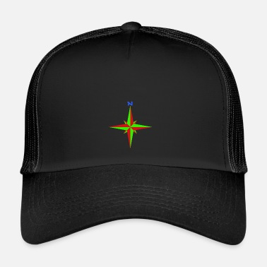 Compass Windrose / compass rose / compass / compass - Trucker Cap