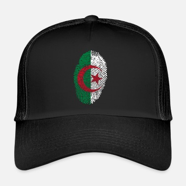 Algeria Fingerprint i love roots algeria algeria - Trucker Cap