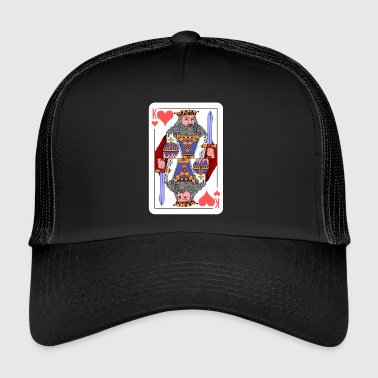 Naipes Idea de regalo King Playing Card - Gorra de camionero