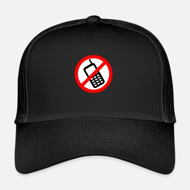 Mobile Phone Mobile phone ban Switch off mobile phone - Trucker Cap