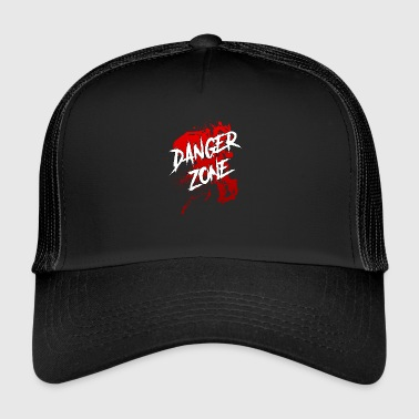 Halloween blood splatter danger zone saying slogan - Trucker Cap