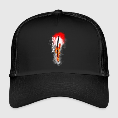 Ninja - Burning Katana - Trucker Cap