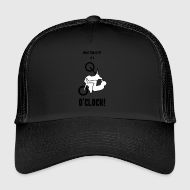 1 O'Clock wheelie motorcycle - Trucker Cap