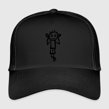 Stick man holds his ears - Trucker Cap