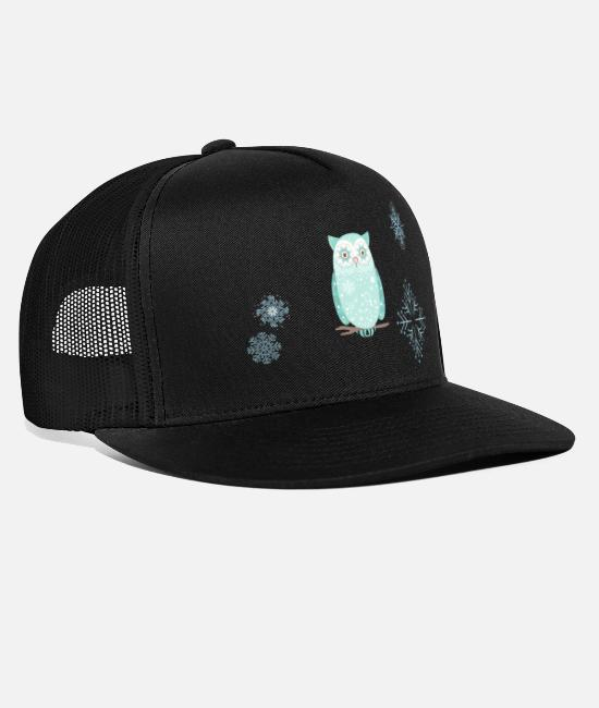Snowflake Caps & Hats - snow flake - Trucker Cap black/black