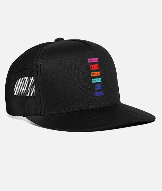 Gift Caps & Mützen - Crazy Rainbow Weird Colors - People will flip out! - Trucker Cap Schwarz/Schwarz