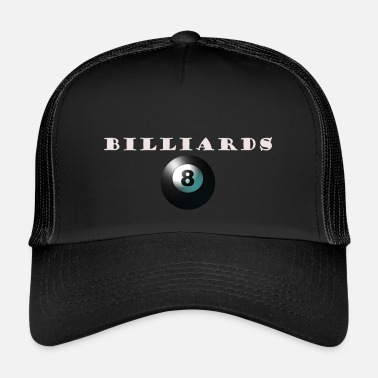 Billiard Ball billiards with black billiard ball - Trucker Cap