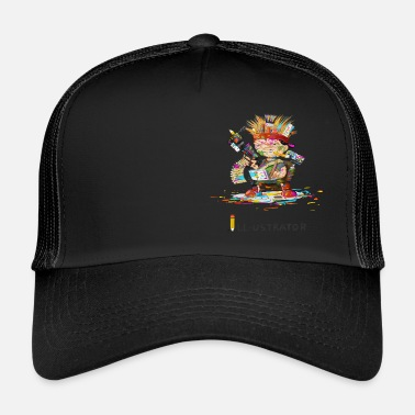 Illustration illustrator - Trucker Cap