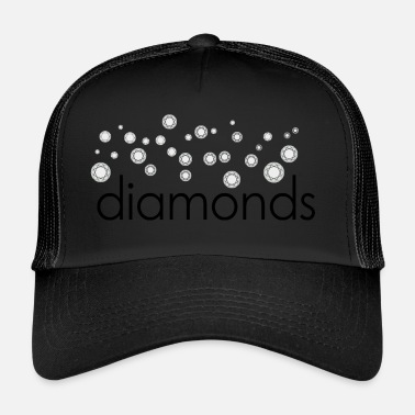 Diamant diamanter diamanter - Truckerkeps