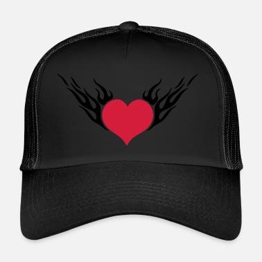 Heart Schwarz Cap Basecap Herz