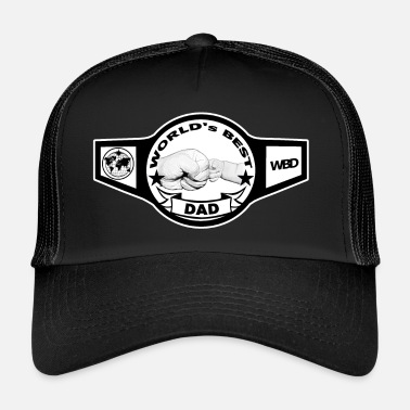 Dad Worlds best dad best dad father champion - Trucker Cap