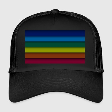Gay pride stripes rainbow - Trucker Cap