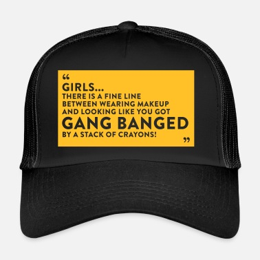 Gangbang Gangbanged By A Stack Of Crayons - Trucker Cap