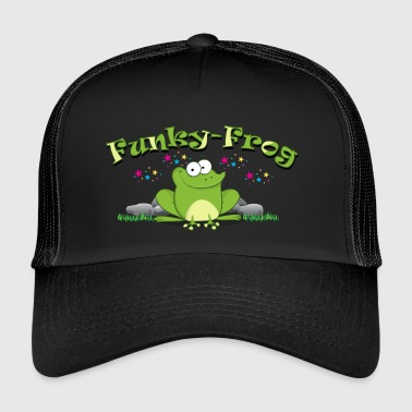 Funky funny funky frog in comic look - Trucker Cap