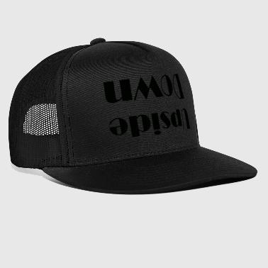 Upside down mirrored upside down - Trucker Cap