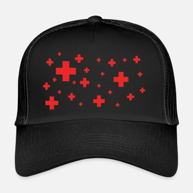 Plus rød plus - Trucker Cap