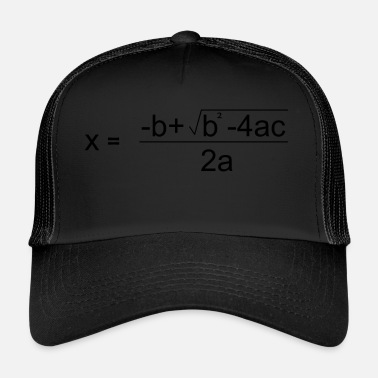 Quadrat Quadratic Formula for all the Maths Disciples - Trucker Cap