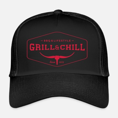 Bbq BBQ and Chill / BBQ and Lifestyle logo 1 - Trucker Cap