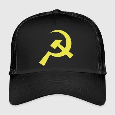 Communist Hammer Sickle Flag - Trucker Cap