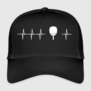I like ping pong (table tennis heartbeat) - Trucker Cap