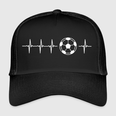 I love football (soccer heartbeat) - Trucker Cap