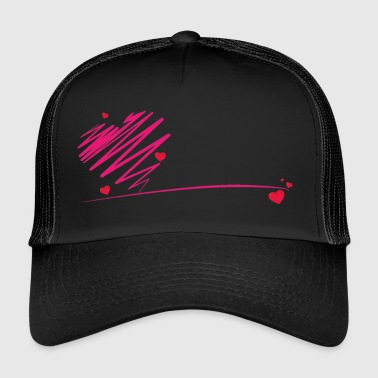 heart scribble - Trucker Cap