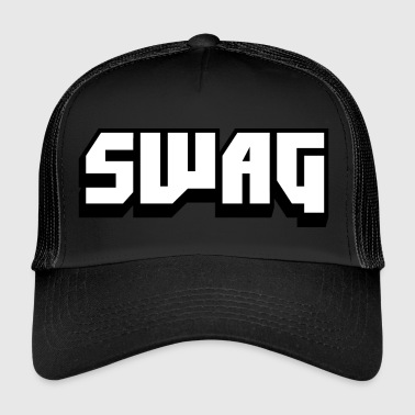 SWAG Black and White - Trucker Cap