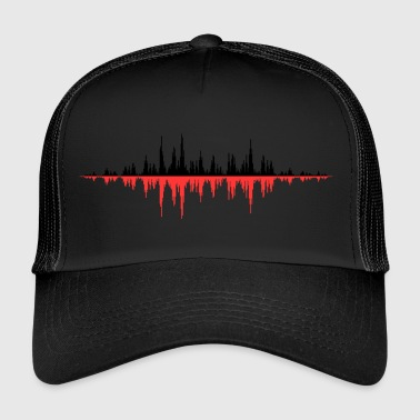 Red Sound Wave - Trucker Cap