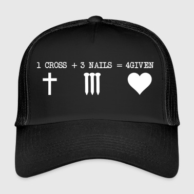 CROSS 1 + 3 + SPIJKERS 4GIVEN - Trucker Cap