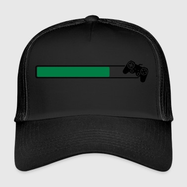 Loading Game Gamer Controller Progamer Loading Bar - Trucker Cap