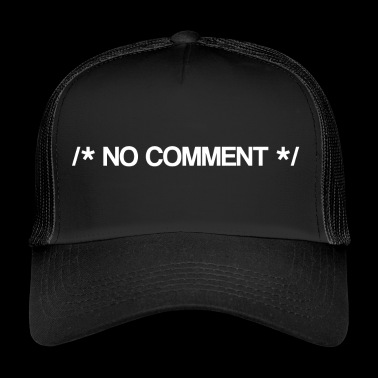 No Comment - Comment - Computer Science - Java - Trucker Cap