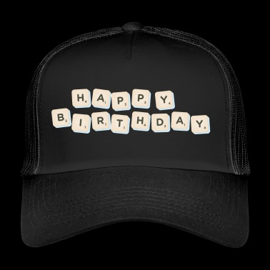Happy Birthday Scrabble - Trucker Cap