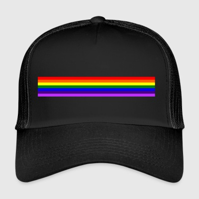 Bande arc en ciel/rainbow band - Trucker Cap