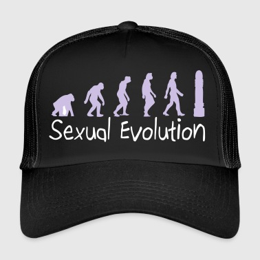 Sexual Evolution From Ape To Erect Man. - Trucker Cap