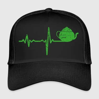 Gift heartbeat drink tea - Trucker Cap