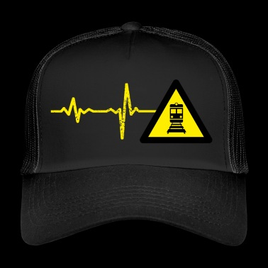 Gift heartbeat train driver - Trucker Cap
