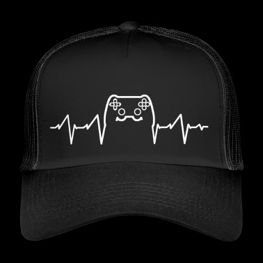 Heartbeat - Gaming Video Games - Trucker Cap