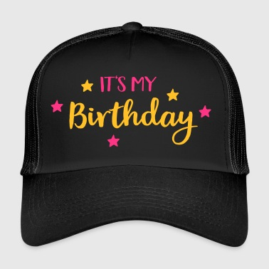 2541614 128216635 birthday - Trucker Cap
