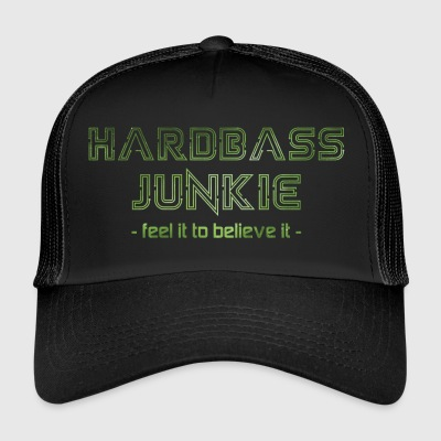 Hard Bass Junkie Hardstyle Bass Techno Electro Fix - Trucker Cap